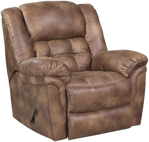 HomeStretch 129 Casual Power Rocker Recliner