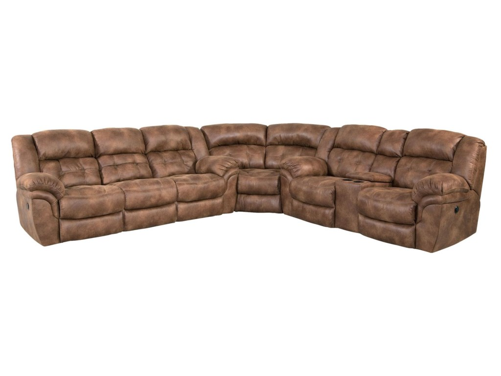 HomeStretch Padre GRP 129 SECTIONAL Padre Almond Reclining Sectional Sofa. HomeStretch Padre Padre Almond Reclining Sectional Sofa   Great