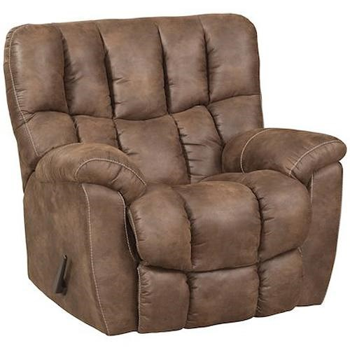 HomeStretch 133-91 Casual Power Rocker Recliner with Overstuffed Biscuit Back Design