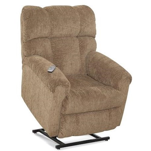 HomeStretch 134 Casual Lift Recliner with Plush Chaise