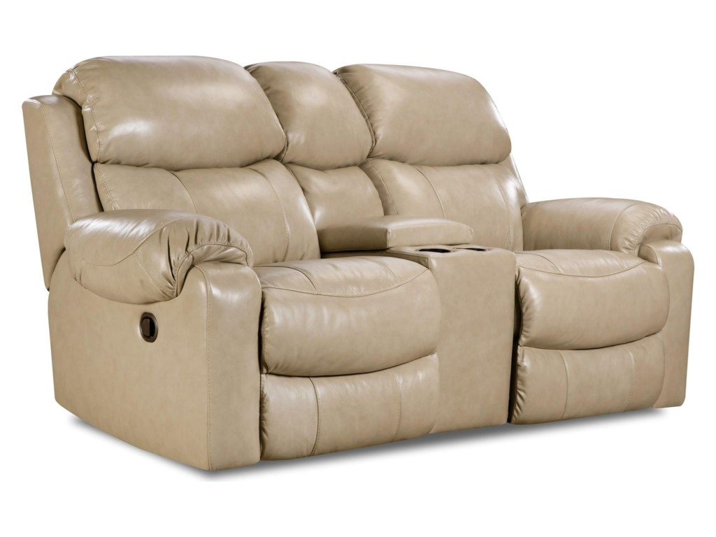 HomeStretch 135 CollectionReclining Console Loveseat