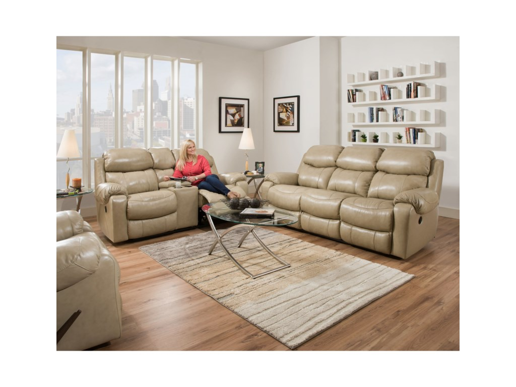 HomeStretch 135 CollectionPower Reclining Loveseat