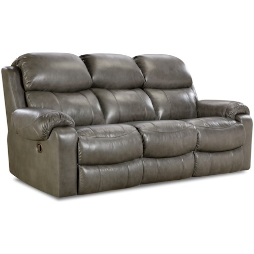 HomeStretch 135 Collection Power Reclining Sofa with Pillow Arms
