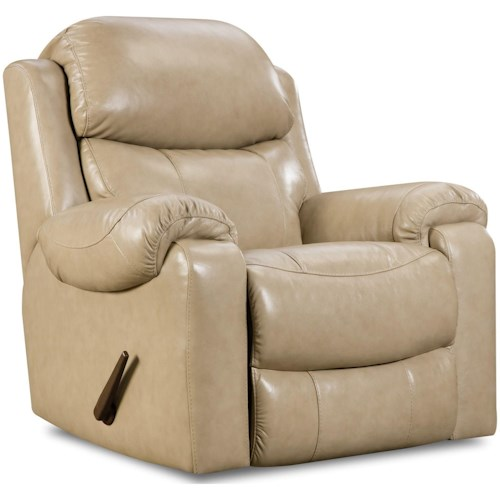 HomeStretch 135 Collection Rocker Recliner with Pillow Arms