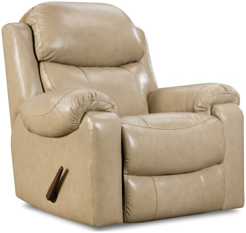 HomeStretch 135 Collection Power Rocker Recliner with Pillow Arms