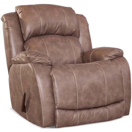 HomeStretch 137 Collection Casual Rocker Recliner with Pillow Top Arms