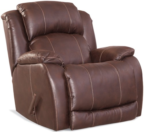 Comfort Living 137 Collection Casual Rocker Recliner with Pillow Top Arms