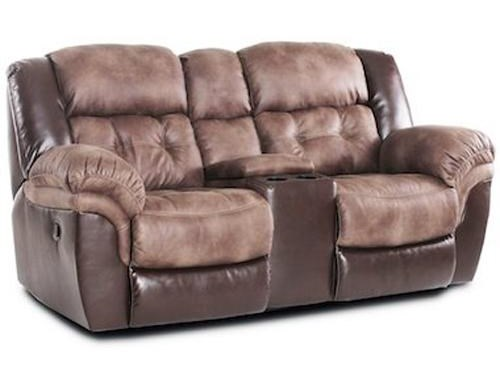 HomeStretch 139Reclining Power Loveseat
