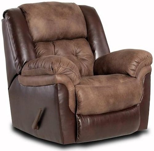 HomeStretch 139 Casual Power Rocker Recliner