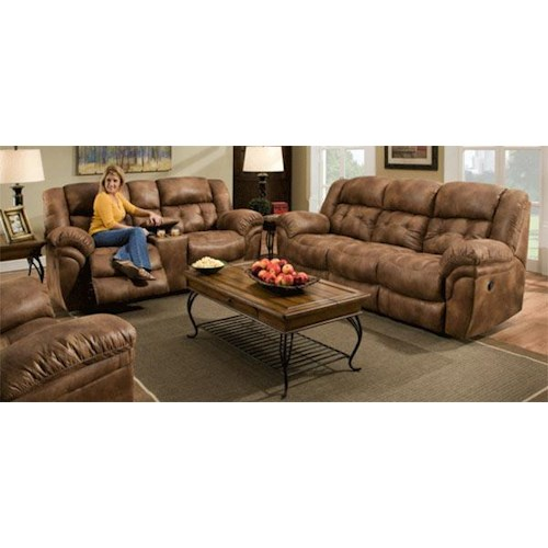 Comfort Living Sierra Reclining Sofa & Loveseat Set