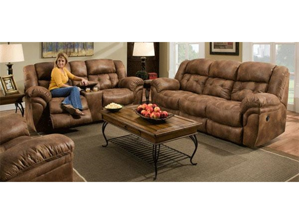 Sierra Reclining Sofa Loveseat Set By Comfort Living