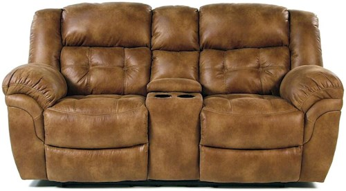 Comfort Living Sierra Casual Reclining Console Loveseat with Cupholders