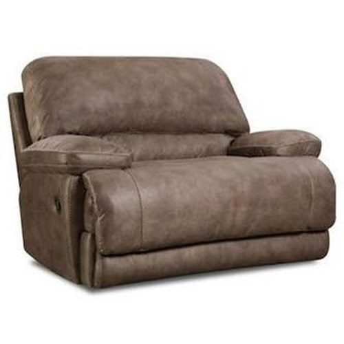 HomeStretch Tyler Casual Chair-and-a-Half Recliner with Pillow Arms
