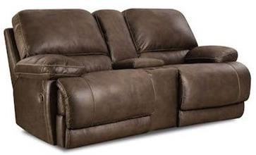 HomeStretch 147Reclining Console Loveseat