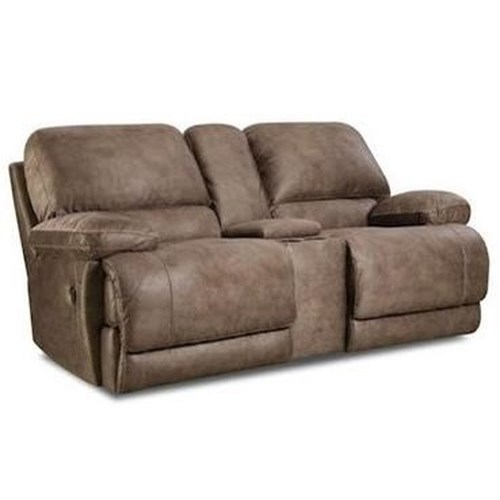 Comfort Living 147 Casual Power Reclining Console Loveseat with Full Chaise Cushion