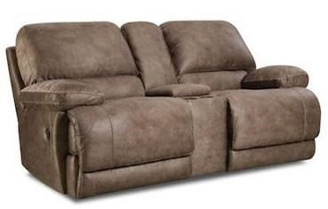 HomeStretch Diversey SlatePower Reclining Console Loveseat