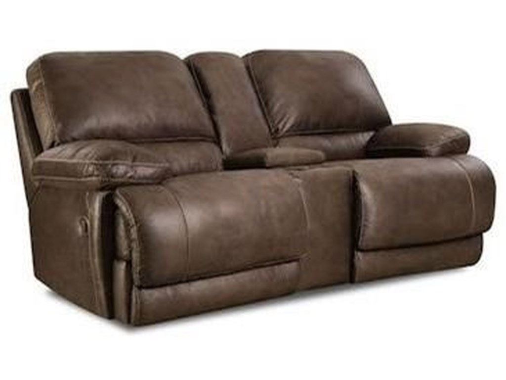 HomeStretch 147Power Reclining Console Loveseat