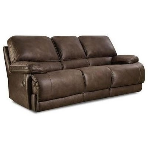 Comfort Living 147 Casual Reclining Sofa with Split Back and Full Chaise Cushions