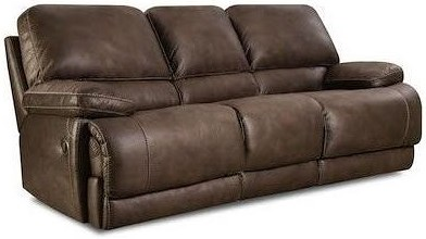 HomeStretch 147 Casual Power Sofa with Split Back and Full Chaise Cushions
