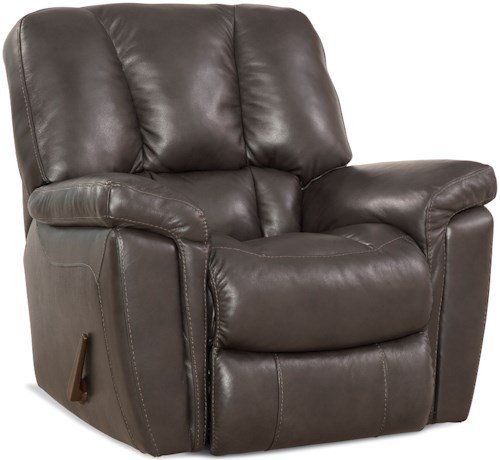 Comfort Living 159 Collection Casual Rocker Recliner with Scoop Seat