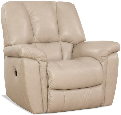 HomeStretch 159 Collection Casual Rocker Recliner with Scoop Seat