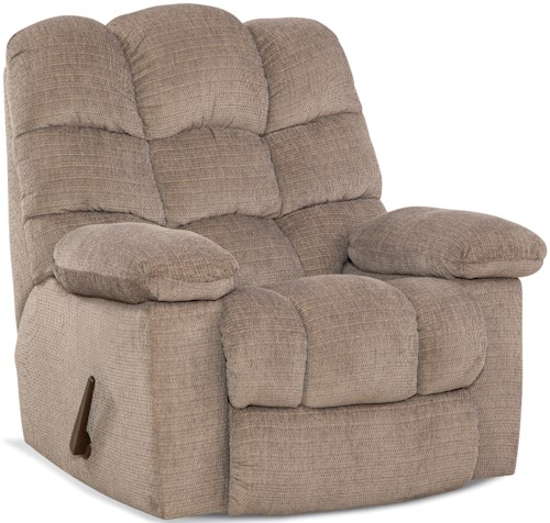 HomeStretch 160 Collection Casual Rocker Recliner with Two-Motor Massage