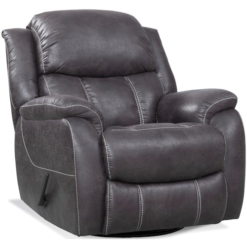 HomeStretch 166 Casual Swivel Glider Recliner