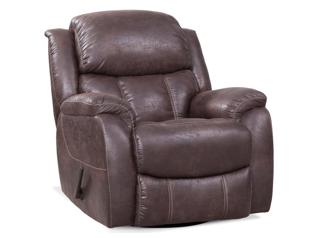 HomeStretch 166Swivel Glider Recliner