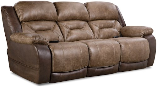 HomeStretch 168 Collection Double Reclining Power Sofa