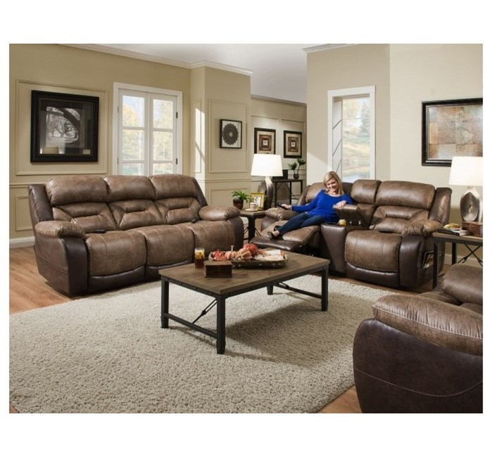 HomeStretch 168 CollectionDouble Reclining Power Sofa