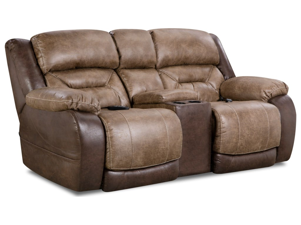 HomeStretch LonestarPower Console Loveseat