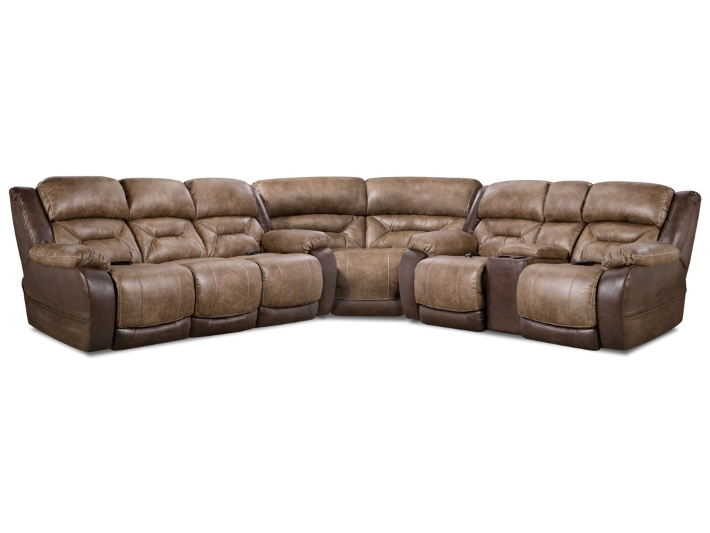 HomeStretch 168 CollectionPower Reclining Sectional