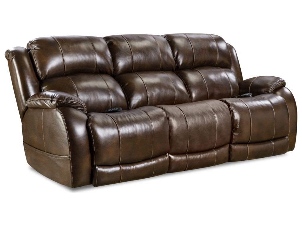 HomeStretch PalmerDouble Reclining Power Sofa