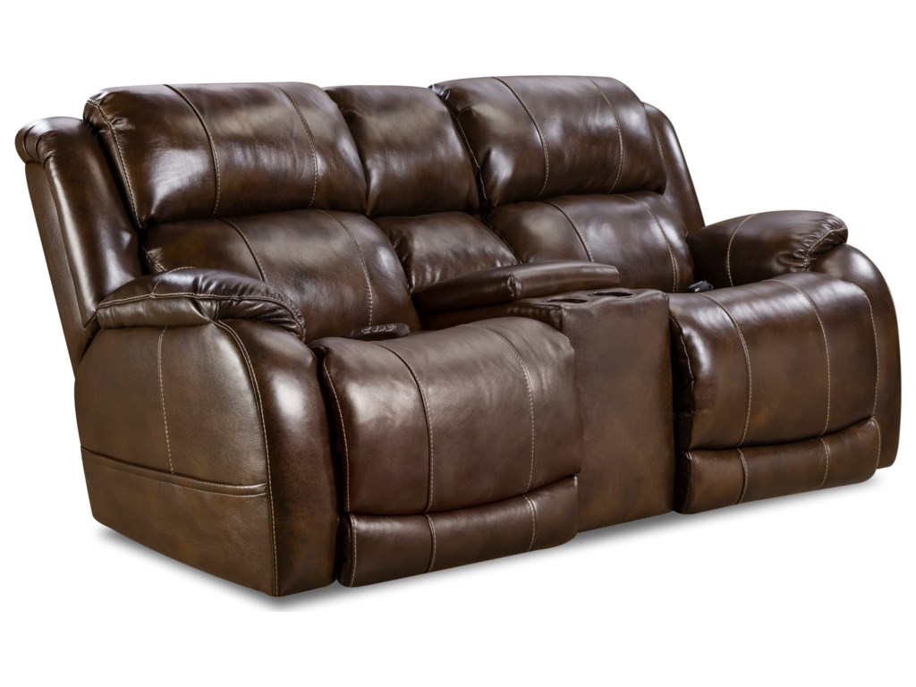 Comfort Living 170 CollectionPower Reclining Console Loveseat