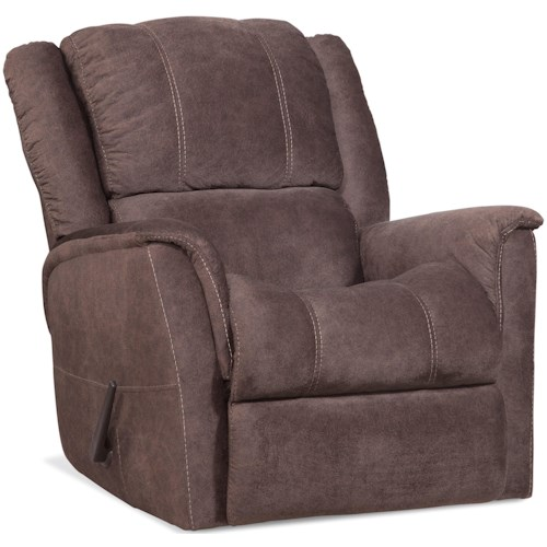 HomeStretch 172 Casual Rocker Recliner with Contrast Stitching