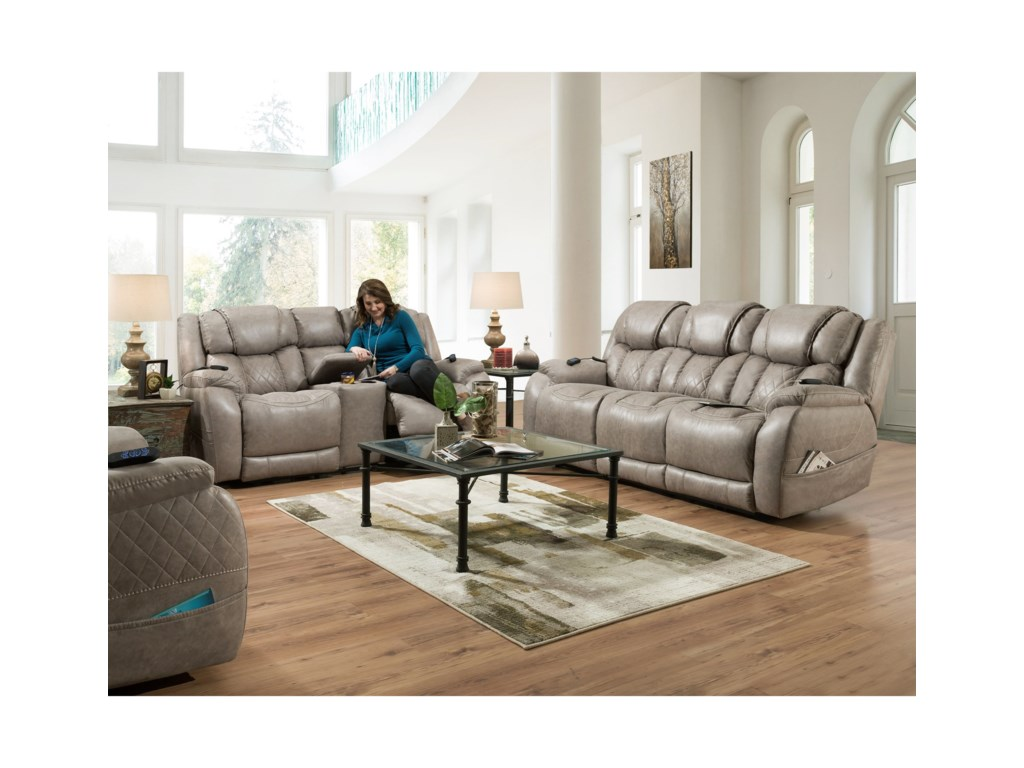 HomeStretch 174Double Reclining Power Sofa