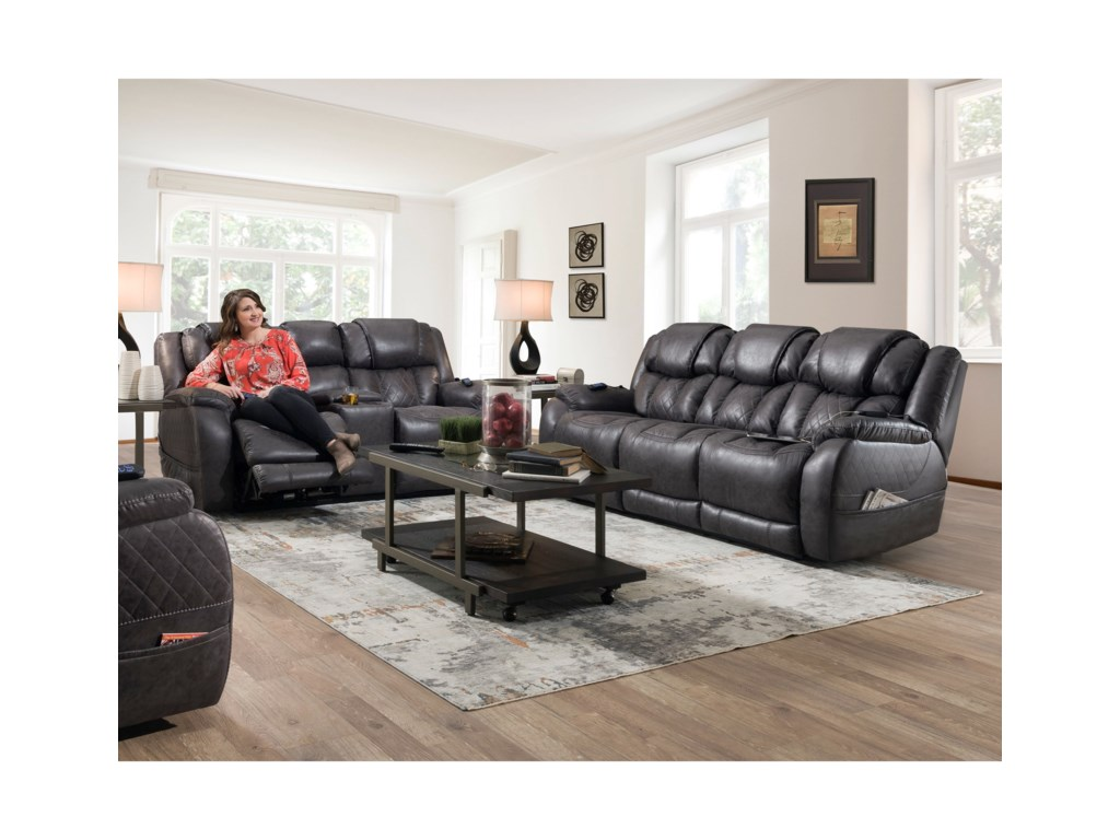 HomeStretch 174Power Console Loveseat