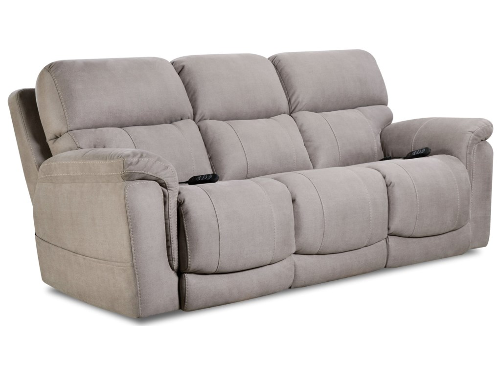 HomeStretch 175 CollectionDouble Reclining Power Sofa