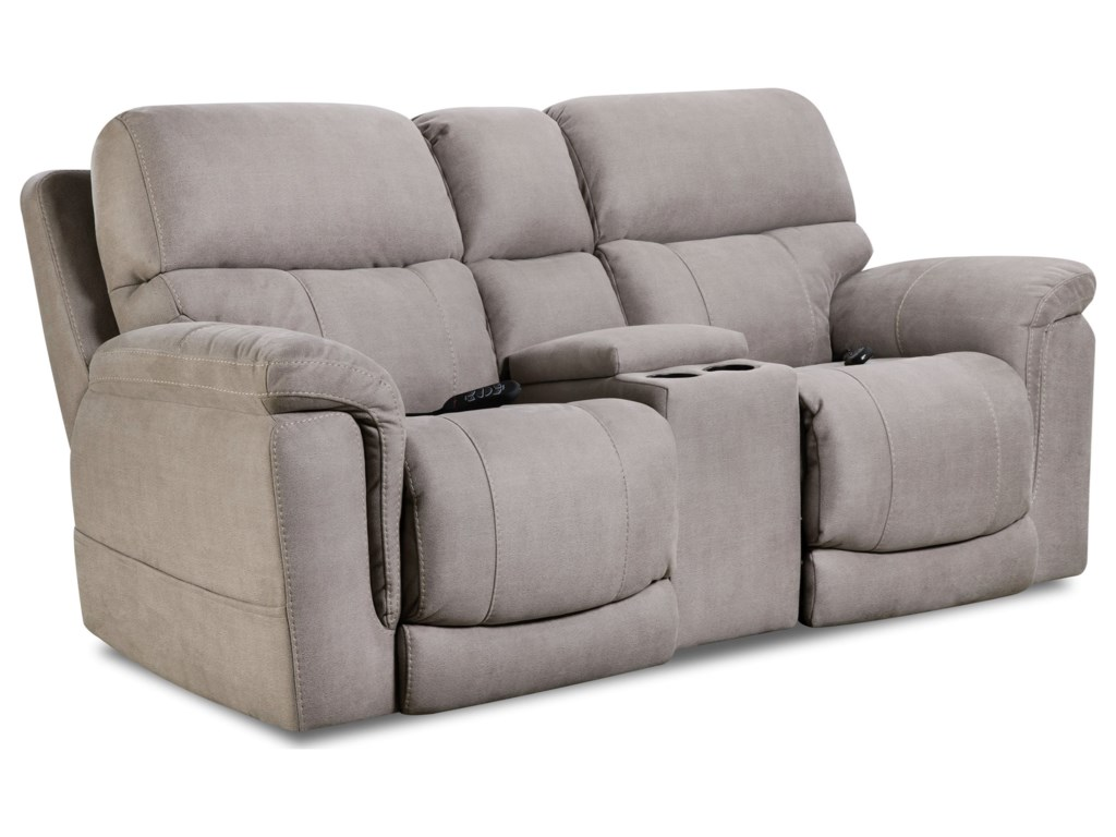 HomeStretch 175 CollectionPower Reclining Loveseat with Power Headrest