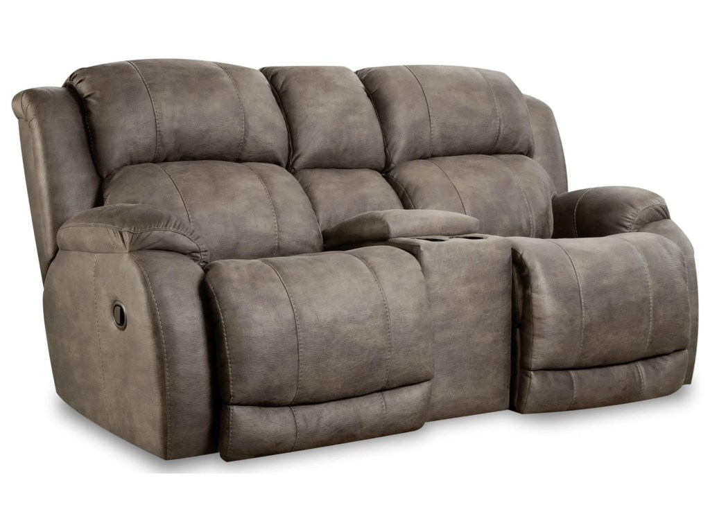 HomeStretch 177Reclining Console Loveseat