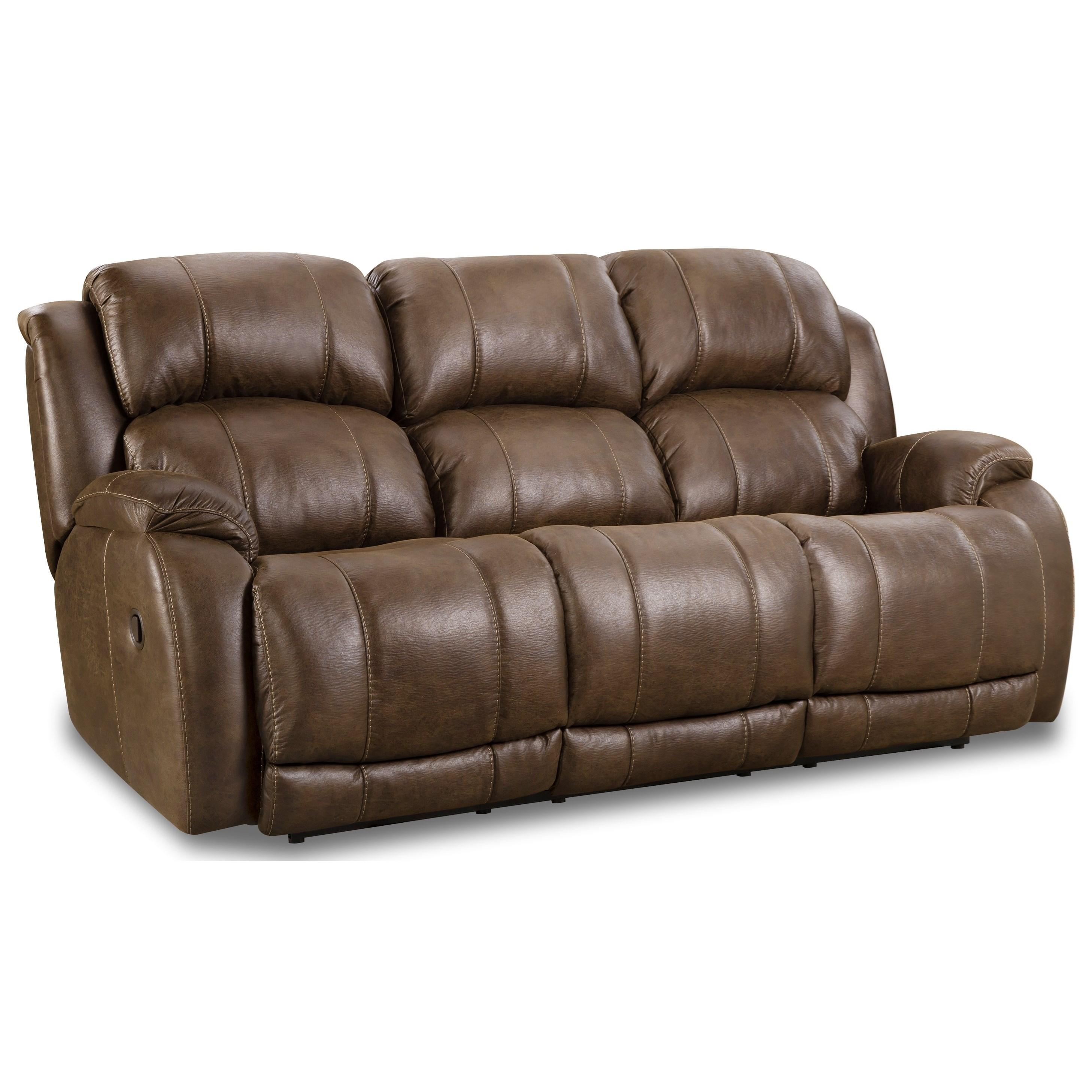 Casual Dual Power Reclining Sofa