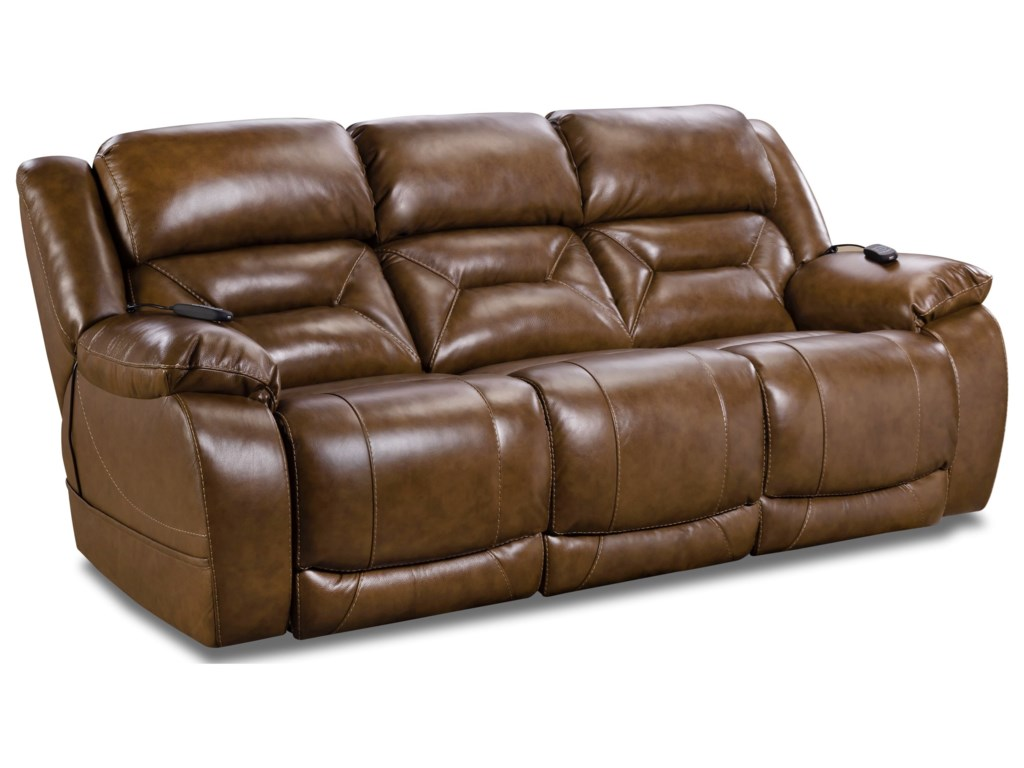 HomeStretch 178Leather Match Power Recliner Sofa