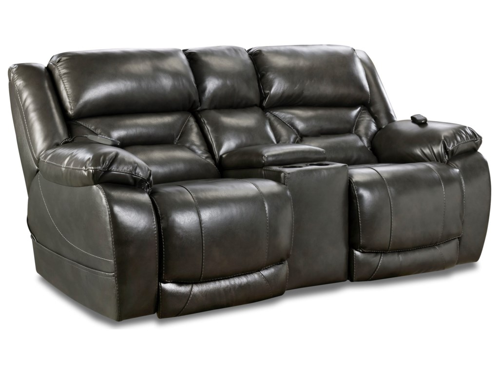 HomeStretch 178Power Console Loveseat