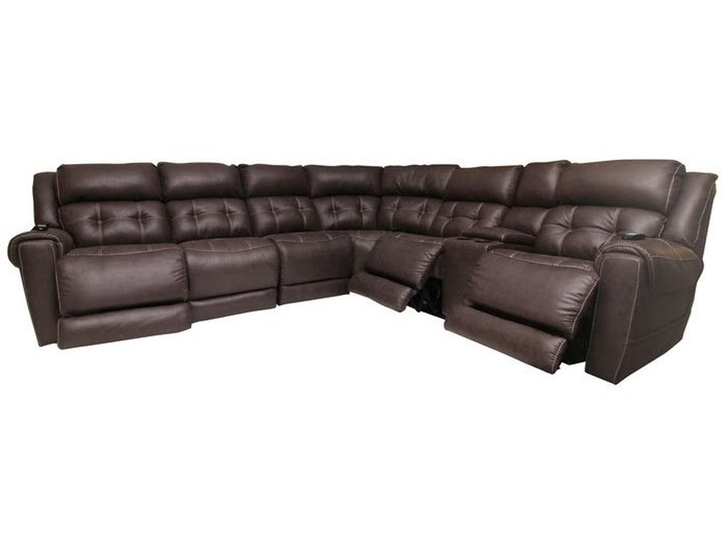 HomeStretch 180L-Shaped Power Reclining Sectional