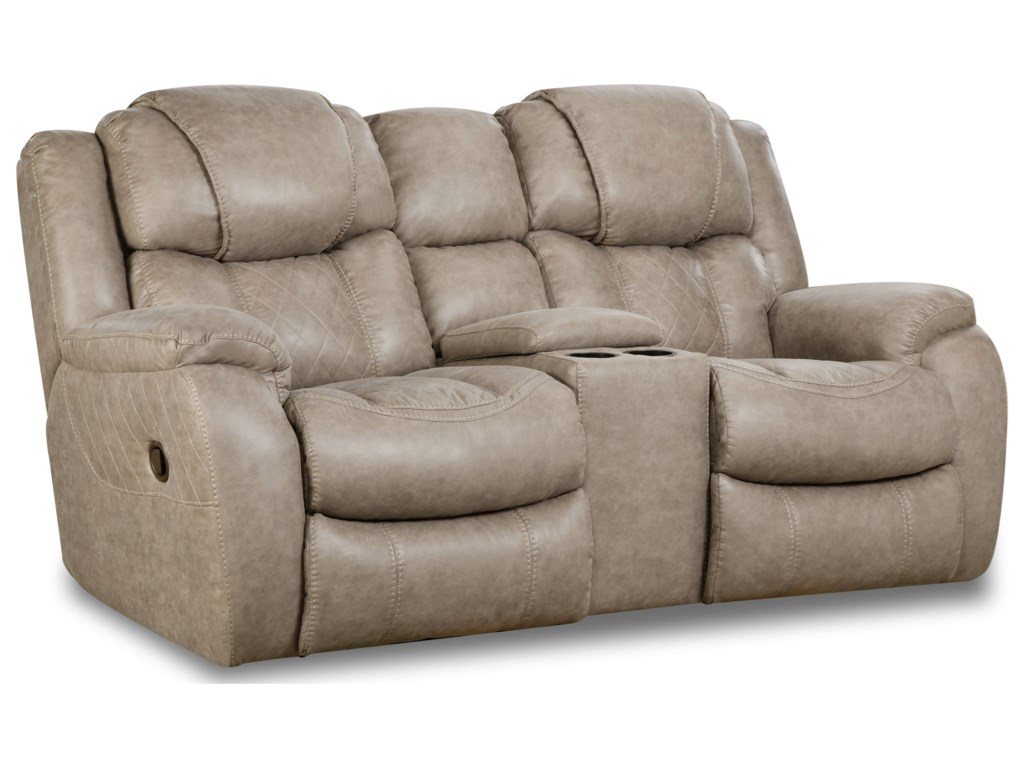 HomeStretch 182Reclining Console Loveseat