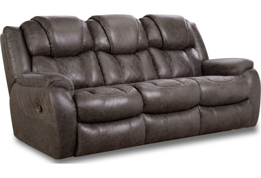 182 Casual Style Double Reclining Sofa by HomeStretch at VanDrie Home  Furnishings
