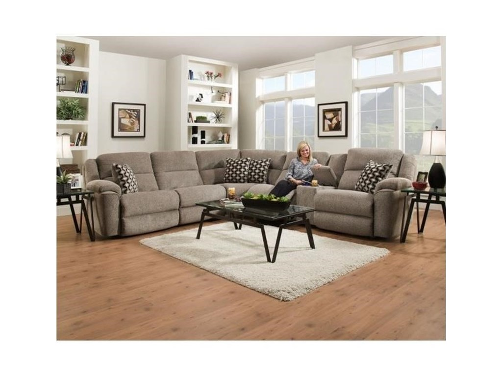 Catalina 162 Casual Power Reclining Sectional Sofa with USB Charging Cup  Holders by HomeStretch at Dunk & Bright Furniture