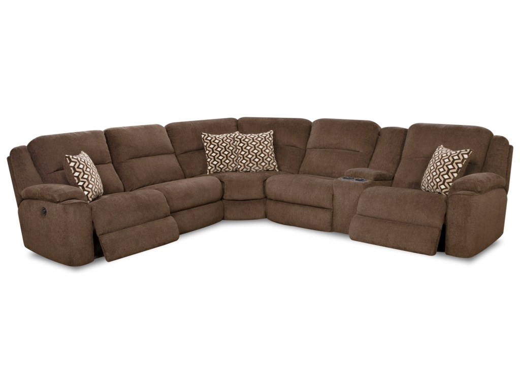 HomeStretch Catalina 162Casual Power Reclining Sectional Sofa