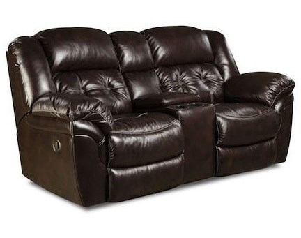 HomeStretch CheyenneReclining Console Loveseat