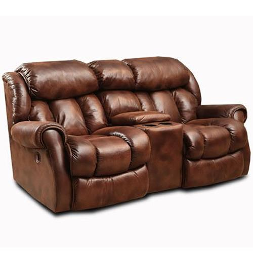 Comfort Living Cody Casual Rocking Recliner Loveseat with Cup Holders
